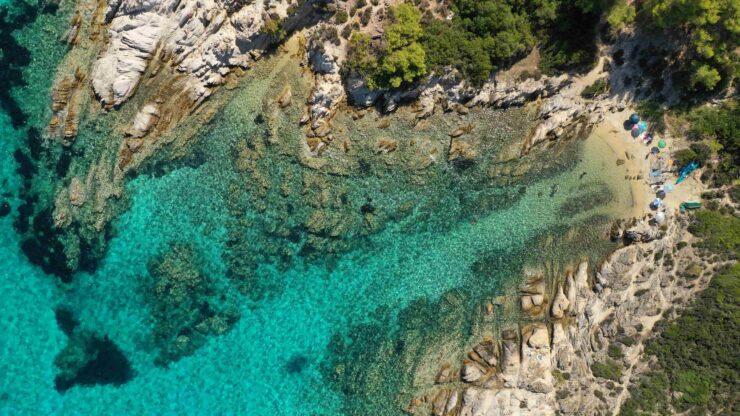 Chalkidiki strand Kavourotripes Portokali