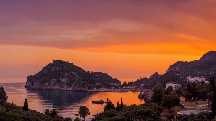Corfu zonsondergang