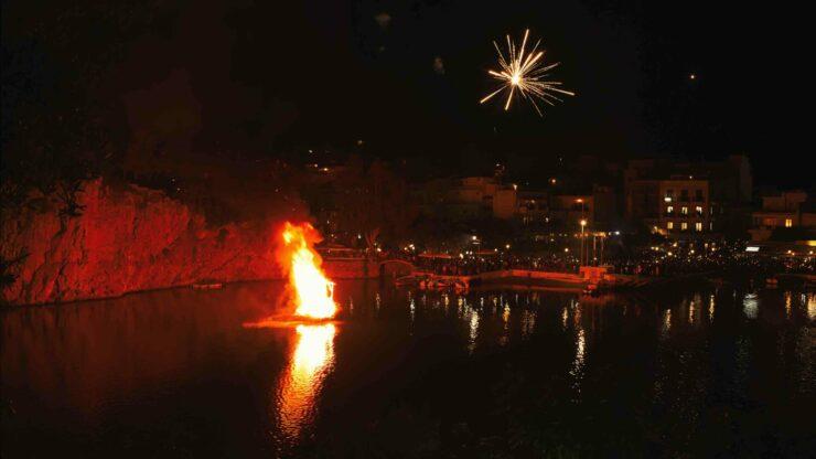 Kreta Pasen vuurwerk
