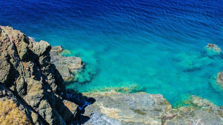 Lesbos Vatera strand snorkelen