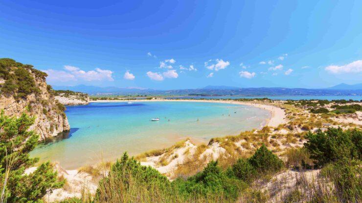 Peloponnesos Voidokilia strand