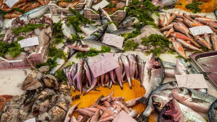 Italie markt vis