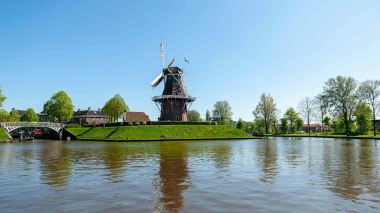 Nederland wandelen Dokkum