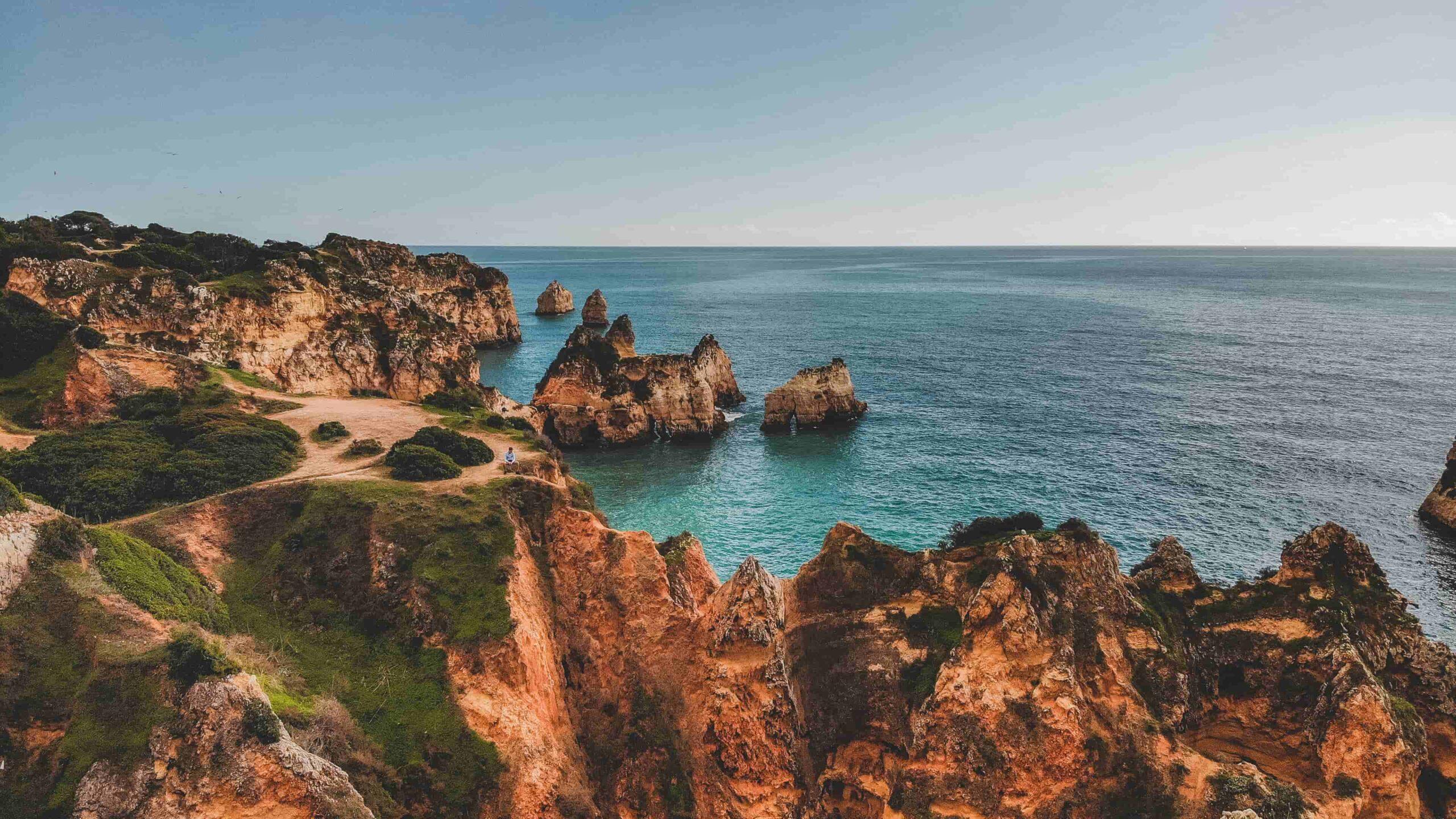 Algarve strand Praia dos Tres Irmaos