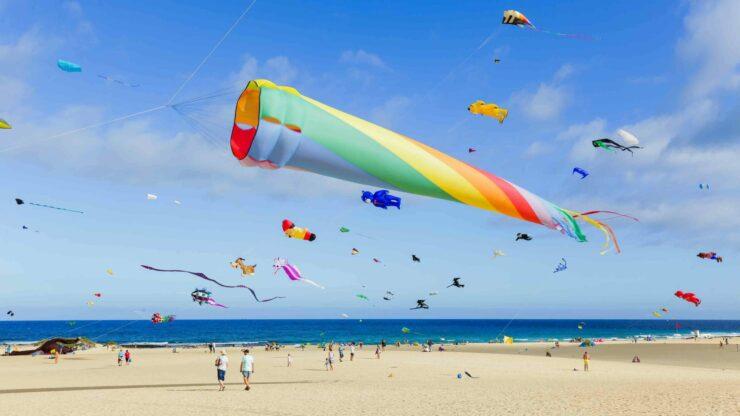 Fuerteventura strand Corralejo Kite festival