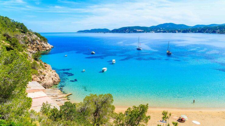 Ibiza strand Cala San Vincente