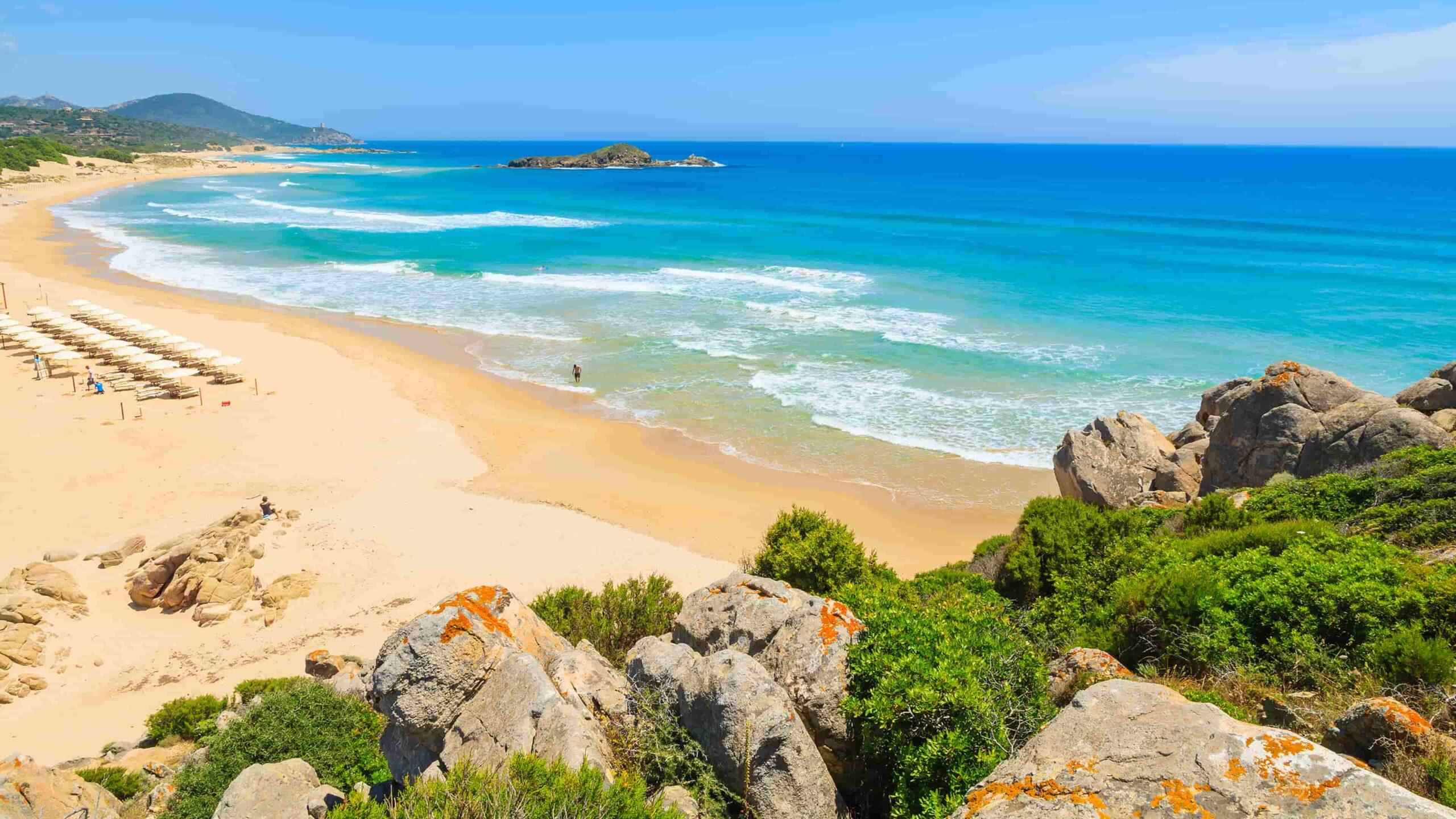 Sardinië strand Su Guideu