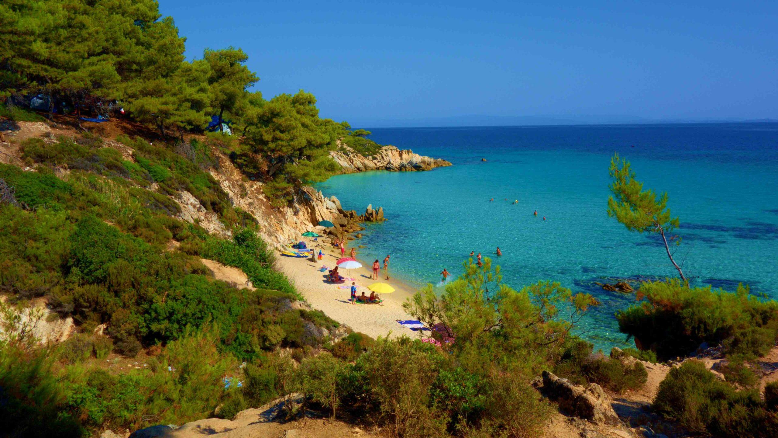 Chalkidiki strand Kavourtripes Orange beach