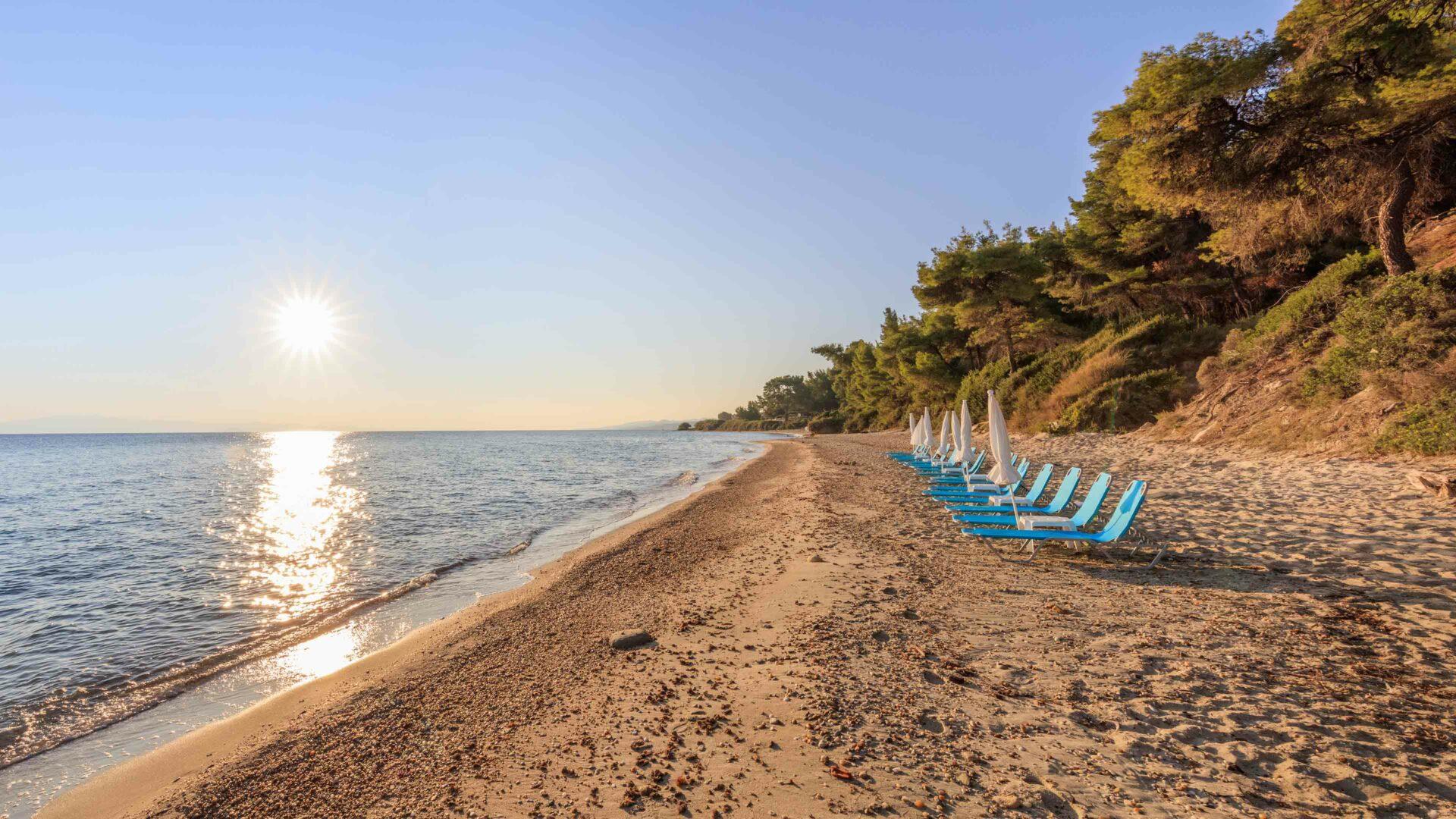 Chalkidiki strand Kriopigi beach