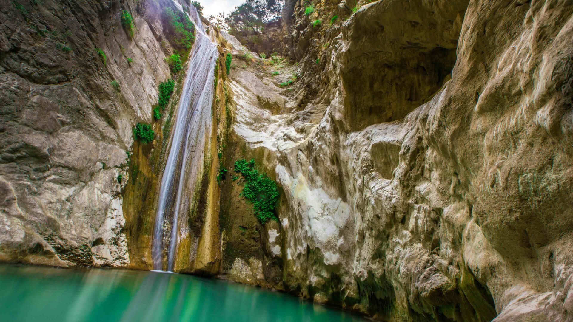 Lefkas waterval