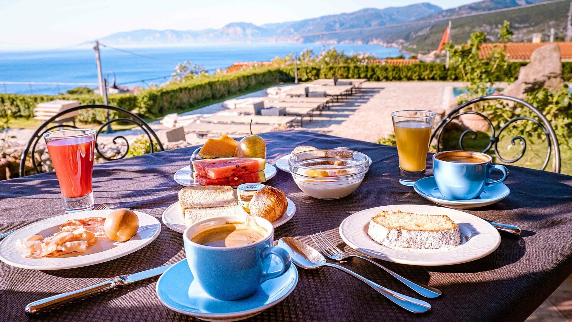 Restaurants uitzicht op Sardinië